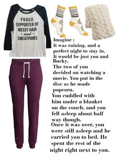 """""""Imagine : Bucky Barnes"""" by carolinelaufeyson ❤ liked on Polyvore featuring H&M, Free People and Pier 1 Imports"""