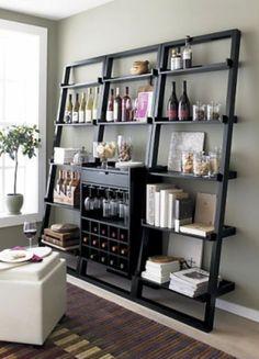 corner shelf wine bar - Google Search