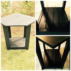 Black Corner/pentagon Table, Corner Unit, Entryway Table, Pentagonal Aquarium…