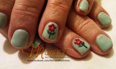Sweet Poppy #NailArt from https://www.facebook.com/MonacoNailArtists