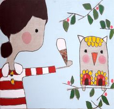 Strawberry Icecream for Mr Owl Meredith Gaston