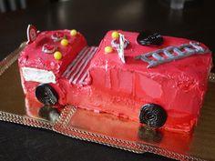 Birthday Cake Ideas For Kids: Fire Engine Cake
