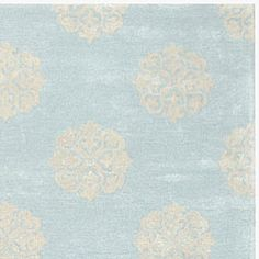 Dining room rug? Handmade Soho Medallion Light Blue New Zealand Wool Rug (6' x 9')