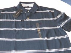 Men's Tommy Hilfiger Polo shirt  logo 7871410 416 navy white L Classic Fit #TommyHilfiger #polo
