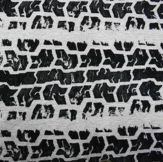 Majapuu : Tire Tracks in grey – Sitka Fabrics