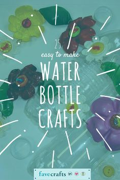 I didn't know there were so many things you could make with a water bottle! This list of water bottle crafts will keep those bottles out of landfills and into your craft supply closet.