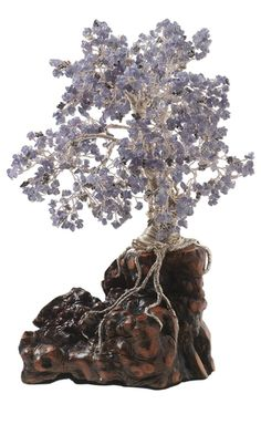 Tree Sculpture with Tanzanite Gemstone Beads and Color-Coated Copper Zebra Wire™ from Fire Mountain Gem sites
