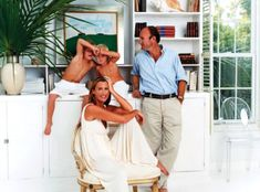 India Hicks and David Flint Wood with two of their young sons