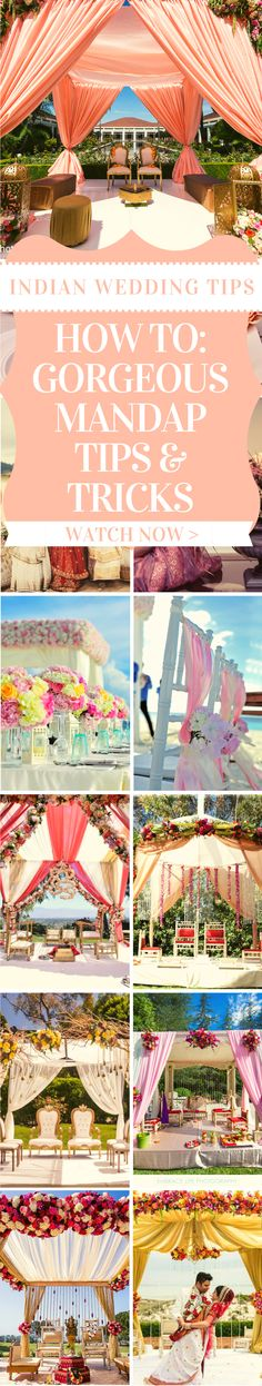 Planning your Indian mandap? 🇮🇳Here are some great mandap tips from a pro! Discover how to put together an absolutely gorgeous mandap with expert Indian wedding planners. Tune into our webinar today: Indian Wedding Favors, Indian Wedding Planner, Wedding Planners, Indian Weddings, Wedding Planning Tips, Wedding Tips, Diy Wedding, Spring Wedding Decorations, Summer Wedding Colors