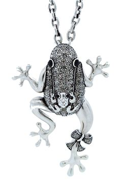 Andrew Hamilton Crawford Mama Frog Necklace In Silver