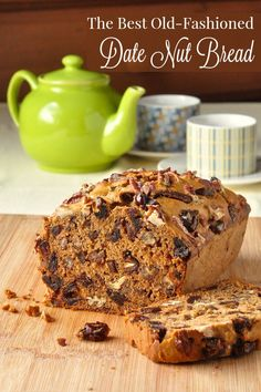 Date Nut Bread - this old fashioned favourite is just like your grandmother would make. It's easy, tender,  moist and delicious, and even better the next day.