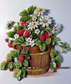 草莓花】 紙雕作品 @ 生活、 紙雕