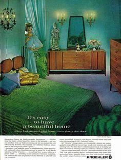 """Kroehler's 1961 """"Octavia"""" bedroom furniture collection."""