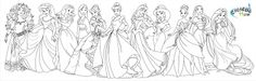 Fans Request - Disney Princess with Merida from Brave Coloring Pages