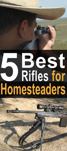 As a homesteader, you have to rely on tools each and every day.One of those tools is a firearm. It can be used for self-defense, for hunting, for protecting livestock, for target shooting, and for pest control, to name a few things. #homesteadsurvivalsite #homesteadguns #homesteadrifles