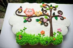 Owl cupcake pull-apart