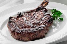 USDA Prime Bone-In Rib-Eye Steak - corn fed, hand-selected and aged a minimum of 35 days M Restaurant, American Restaurant, New York Steak House, My Favorite Food, Favorite Recipes, Favorite Things, Prime Steakhouse, Usda Prime, Prime Beef