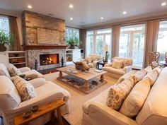 Mixing Textures in Traditional Living Room - Traditional Living Room in Lake Tahoe on HGTV