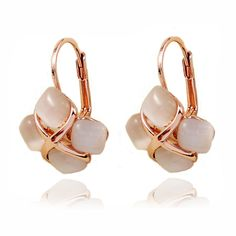 More Rose Gold Fashion Earrings Rose Gold Drop Earrings, Opal Earrings, Fashion Earrings, Fashion Jewelry, Gold Fashion, Wholesale Roses, Rose Gold Color, Wholesale Jewelry, Girl Gifts