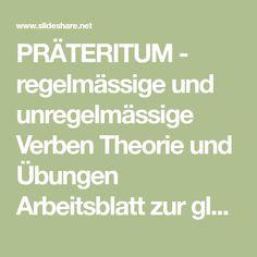 11 best PRÄTERITUM images on Pinterest | Grammar, Primary school and ...
