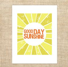Good Day Sunshine Printable Download Inspirational Quote Lyric by The Beatles