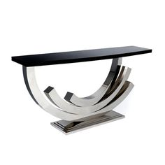 furniture COLLECTIONS >Tables >Console Tables >MM POLISHED NICKEL ...