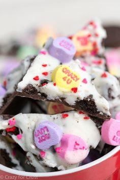 Valentine Oreo Bark