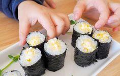 【あゆのこどもごはん】おかわりがとまらない!こどもウケ抜群の海苔巻き | おうちごはん Baby Food Recipes, Cooking Recipes, Salad Rolls, Kids Menu, Japanese Dishes, Sushi Rolls, Egg Salad, Summer Recipes, Love Food