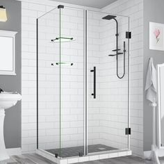 Aston Bromley GS Frameless with Glass Shelves x Rectangle Hinged Shower Enclosure