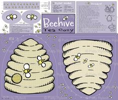 Patty Rybolt Designs: Beehive Tea Cozy Cut & Sew Pattern!
