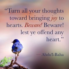 (The Promulgation of Universal Peace, page 453) | #joy #bahai #quote #whim #instaquote #quotestagram #abdulbaha #spiritual #faith #religion #god #love #peace #bird #blue