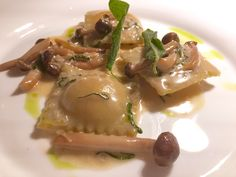 Charlie Palmer at the Knicker, Times Square, NYC @CharliePalmer .... pumpkin-filled ravioli with mushrooms