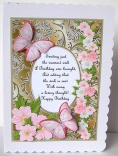 Card Gallery - Butterflies with Gems, Dogwoods and Poem 9  Card made by Margaret McCartney