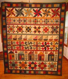 """Harvest Rows"" Sampler Quilt | Flickr - Photo Sharing!"