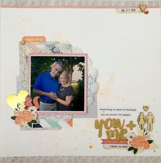 Layout made for Counterfeit Kit Challenge blog using Pink Paislee Cedar Lane and Jen Hadfield DIY collections.