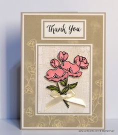 Hello, Crafters.   I  really enjoyed creating today's Thank You card!    I used the single flower  from the Birthday Blooms Stamp Set for th...