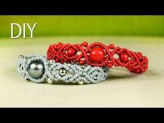 ▶ Wavy Pumpkin Bracelet with Beads - Tutorial - YouTube