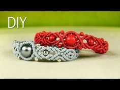 ▶ Wavy Pumpkin Bracelet with Beads - Tutorial - YouTube