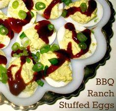 BBQ Ranch Deviled Eggs