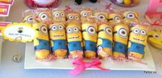 Bee Do Minion Twinkies Despicable Me Party Ideas Minion Twinkies from Just Lovely Favors Featured @ www.partyz.co your party planning search engine!