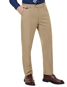 b1313e17 Men's Straight-Fit Hidden Expandable-Waist Dress Chino Pant *** Click image  to review more details. (This is an affiliate link) #slimfitpants