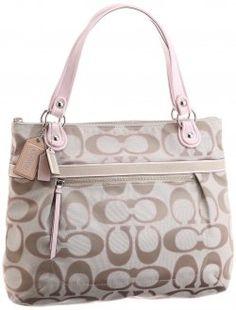 e4e51345c920 ... usa coach poppy glam shopper bag in light khaki and pink 069b4 39de8 ...