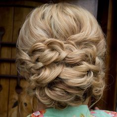 braided wedding updo ~ we ❤ this! moncheribridals.com #braidedbridalupdo