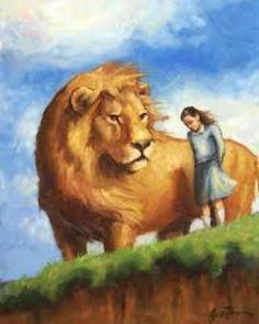 Aslan with Jill Pole