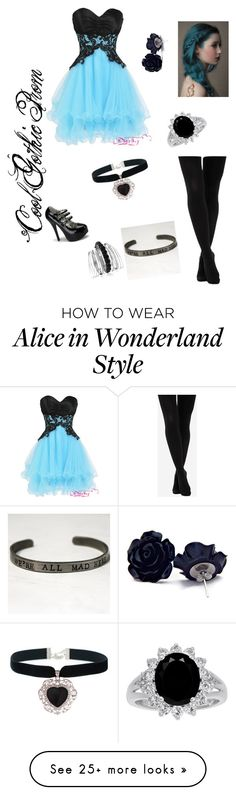 """Cool Gothic Prom"" by all-time-reckless on Polyvore featuring The Limited, Rock 'N Rose and Avenue"