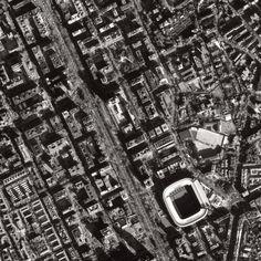 Vista satelital de la Casa Blanca, Estadio Santiago Bernabeu.