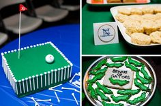"Golf Cake & Golf ""guess how many balls are in the bucket"" party game"