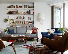 壁やフロアを工夫した、デザイナーらしいお部屋。