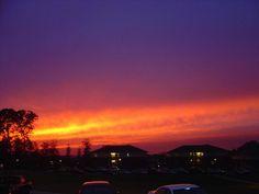 sunset in Clemson, SC