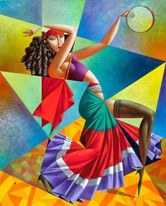 Fine Art and You: 20 Mind Blowing and Beautiful Cubist Art Works By Georgy Kurasov Cubist Artists, Cubism Art, Art And Illustration, Arte Pop, Art Mural, Fine Art, Beautiful Paintings, Art Forms, Modern Art
